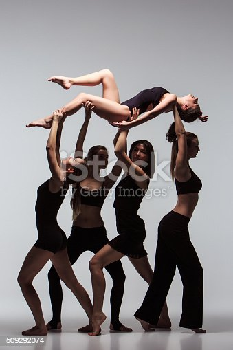 istock The group of modern ballet dancers 509292074