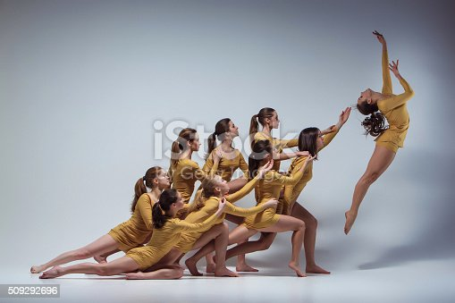 istock The group of modern ballet dancers 509292696