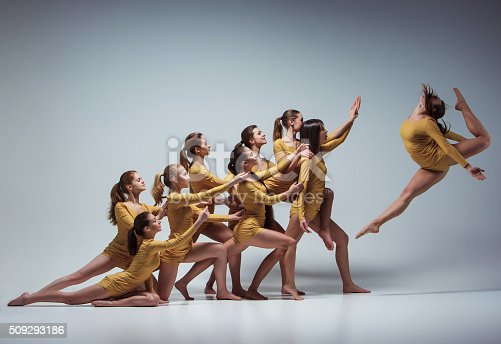 istock The group of modern ballet dancers 509293186