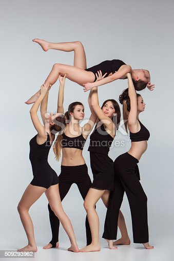 istock The group of modern ballet dancers 509293962