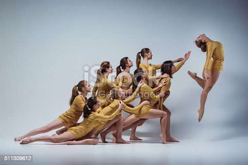 istock The group of modern ballet dancers 511309612