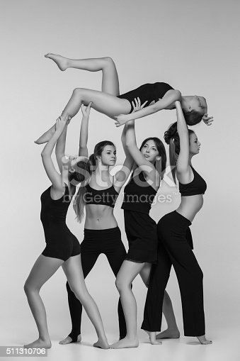 istock The group of modern ballet dancers 511310706