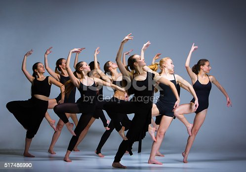 istock The group of modern ballet dancers 517486990