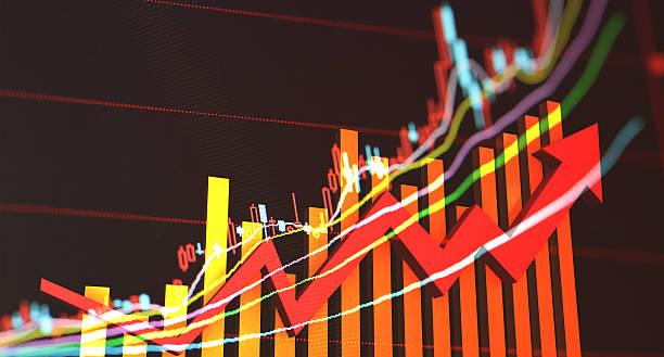 die entwicklung der wirtschaft - hang seng index stock-fotos und bilder