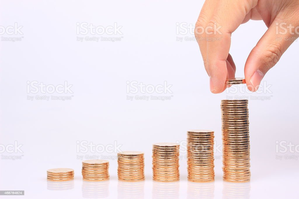 The growth of wealth stock photo