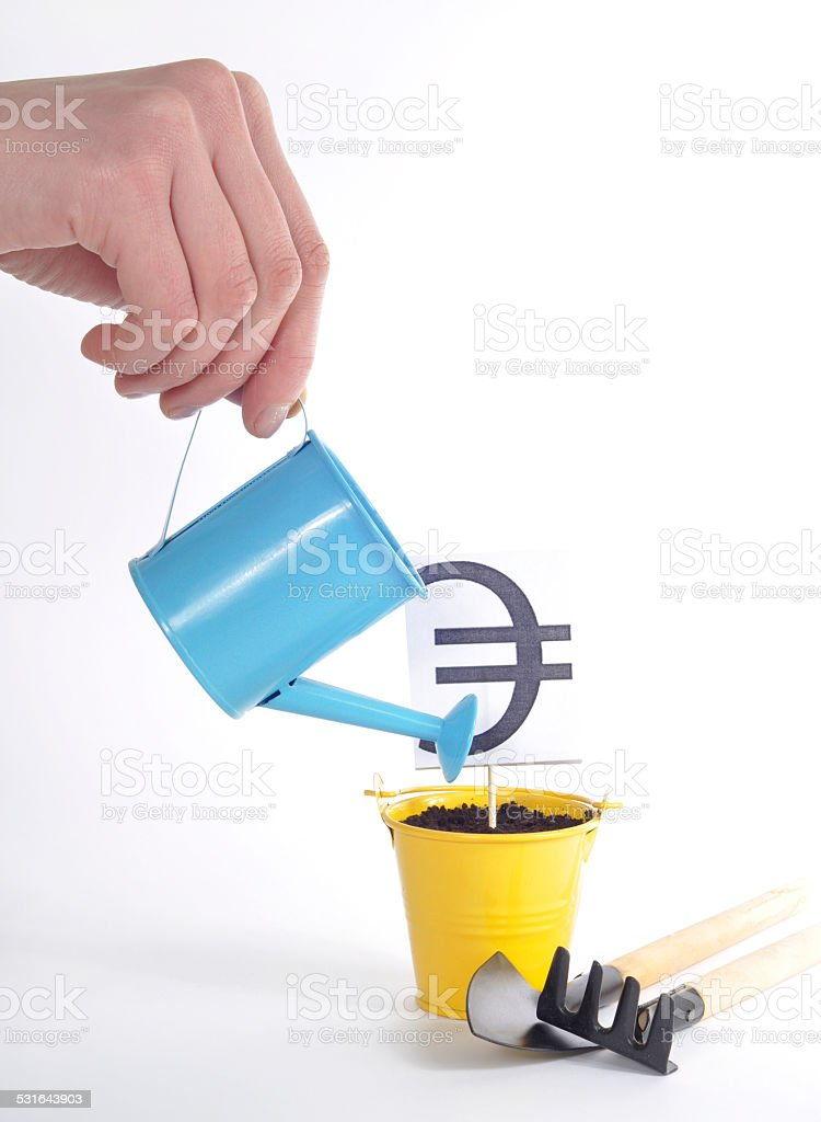 The growth rate of the Euro stock photo