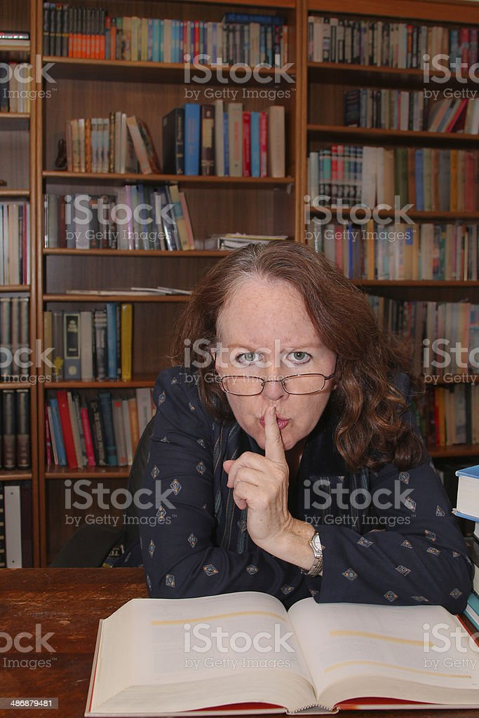 The Grumpy Librarian stock photo