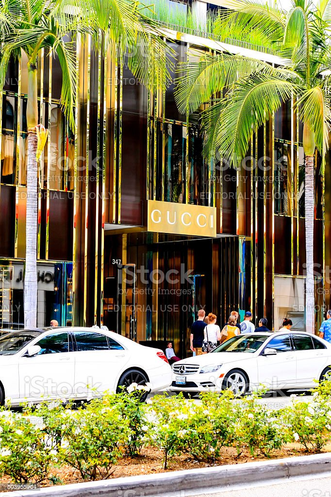 The Gucci Store On Rodeo Drive Beverly Hills Ca Stock
