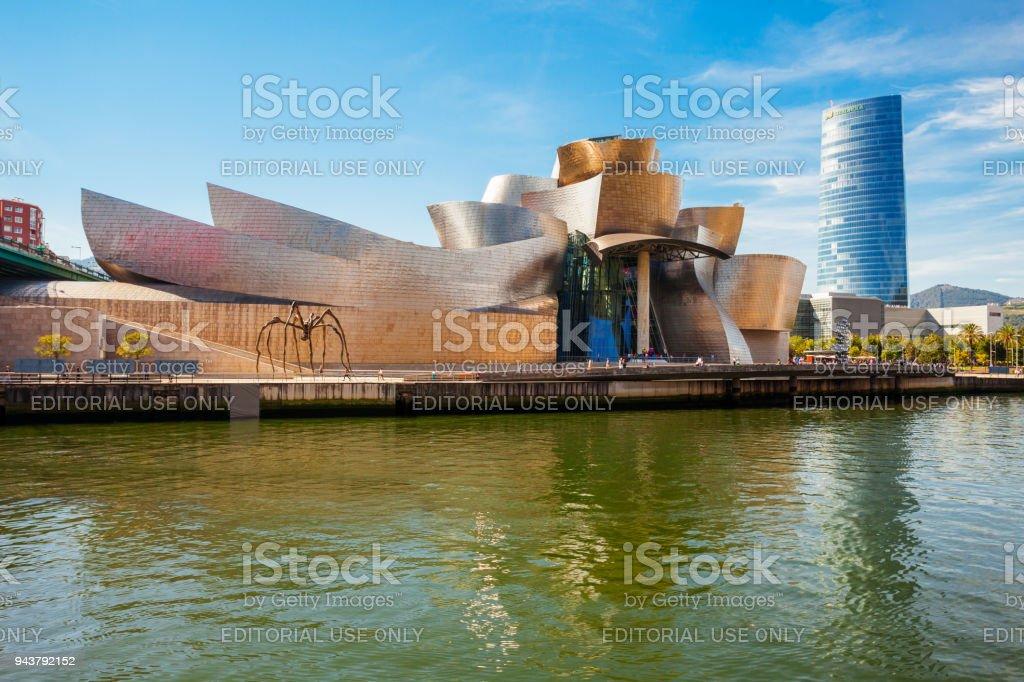 The Guggenheim Museum in Bilbao stock photo
