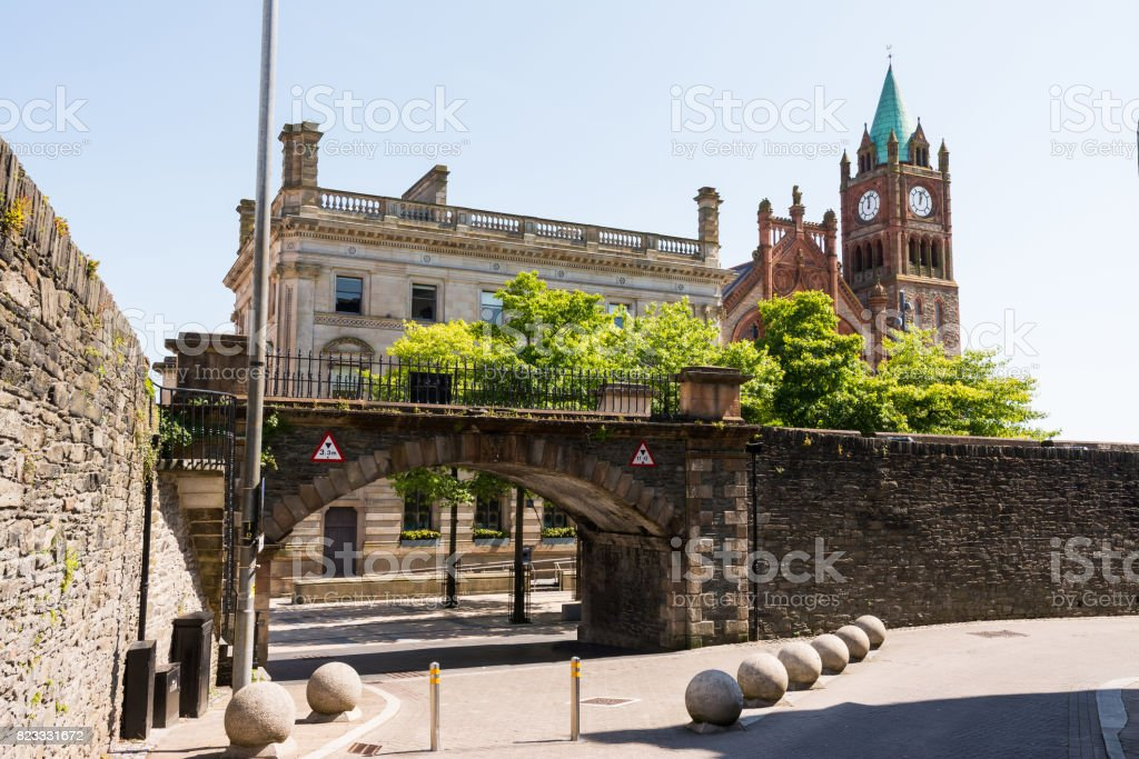 The Guildhall in Derry, Northern Ireland stock photo