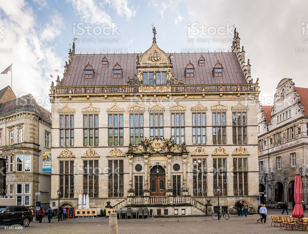 The guildhouse of merchants in Bremen, Germany stock photo