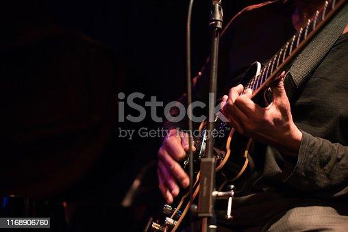 Nightclub, Jazz, Funk music, vintage, guitar, electric guitar player