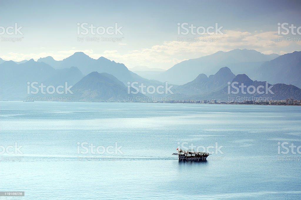 The Gulf of Antalya stock photo