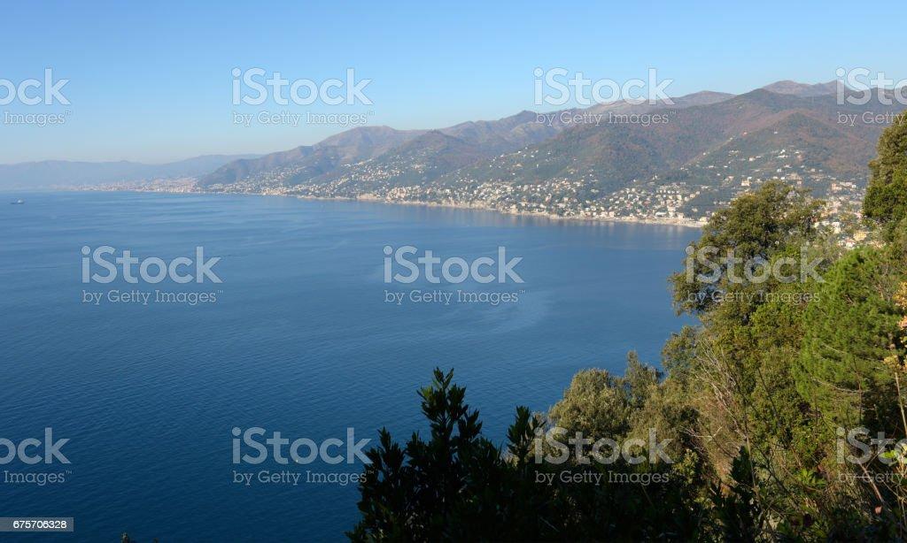 The gulf of Camogli royalty-free stock photo