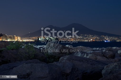 istock The Gulf of Naples, in the foreground the castel dell`ovo and in the background the Vesuvius. 1178619993