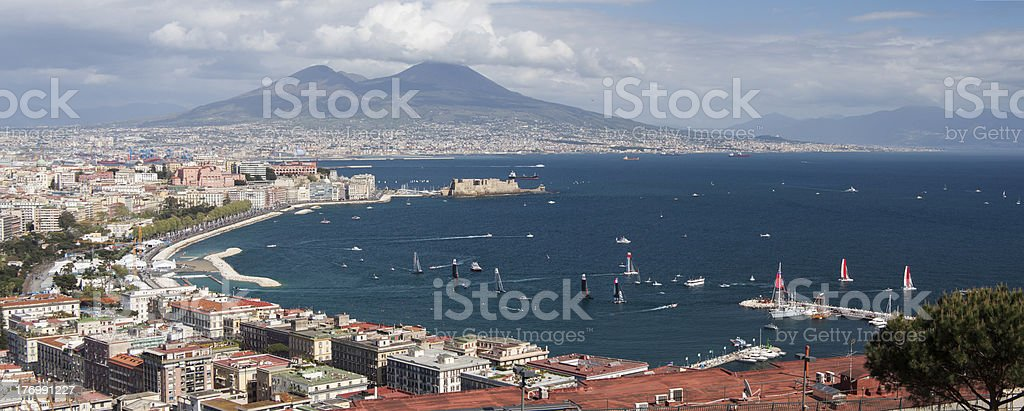 The Gulf of Naples stock photo