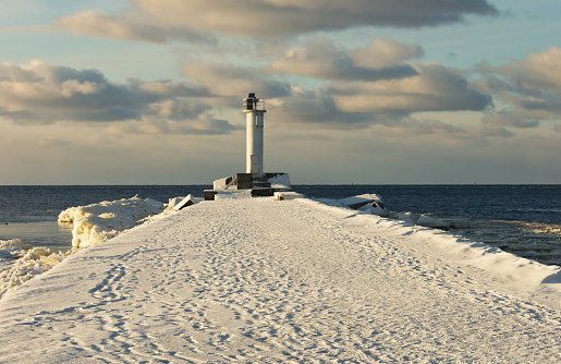 The Gulf of the Baltic Sea in winter.
