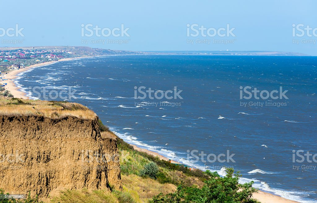 The gulf on the Sea of Azov stock photo