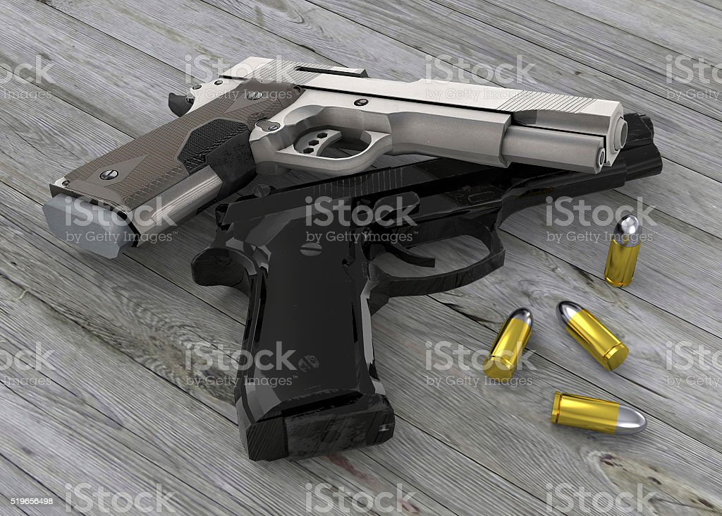 The Guns 3d Stock Photo - Download Image Now - iStock