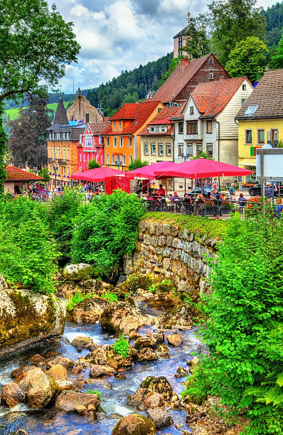 The Gutach river in Triberg im Schwarzwald town - Germany – Foto