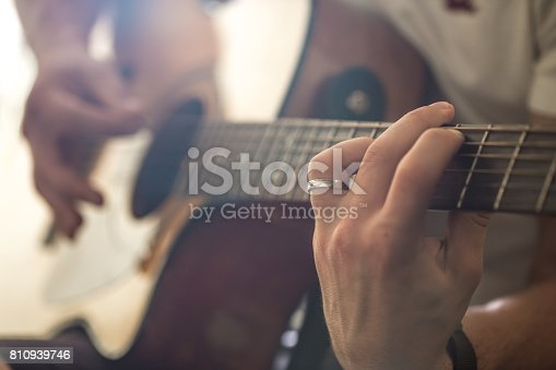 istock the guy playing the acoustic guitar 810939746
