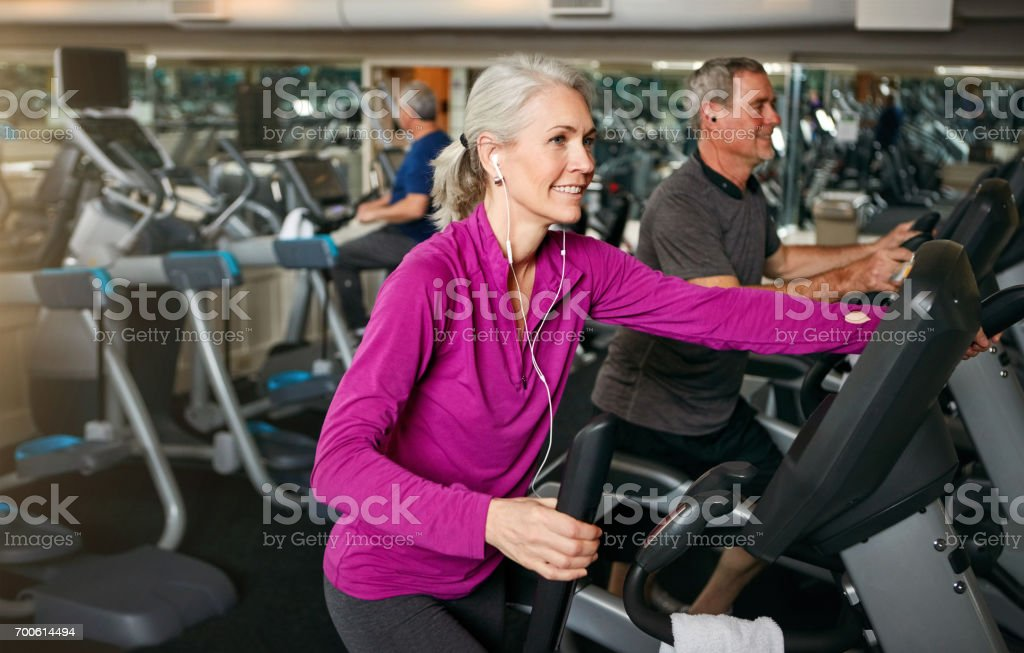 The gym, a place to come together and get fit stock photo