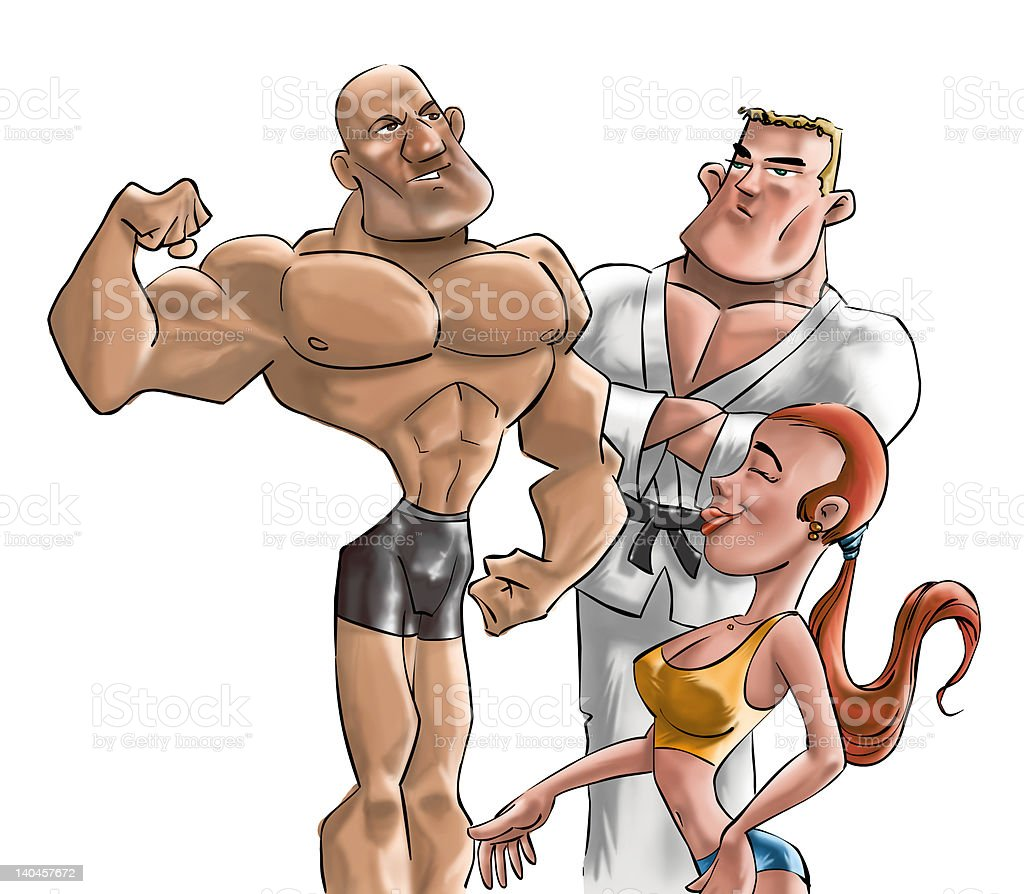 the gym fighters royalty-free stock photo