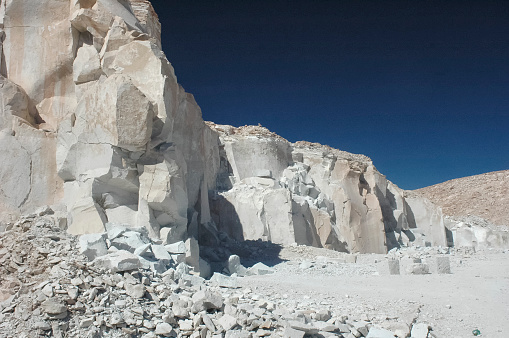 Road in the Marble quarry in Carrara