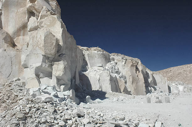 The gypsum quarry of Toconao stock photo