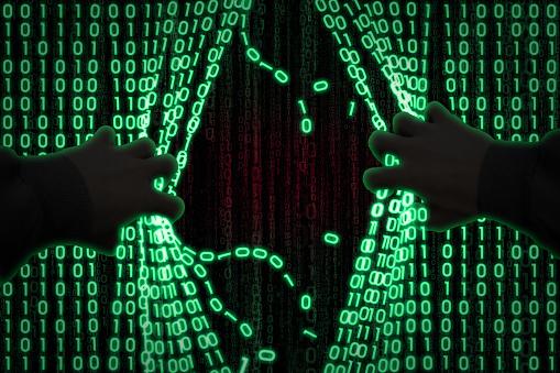 The Hacker Enters The Computer Foto de stock y más banco de imágenes de Accesibilidad