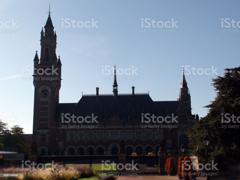 The Hague Peace Palace Building In The Netherlands Europe stock photo