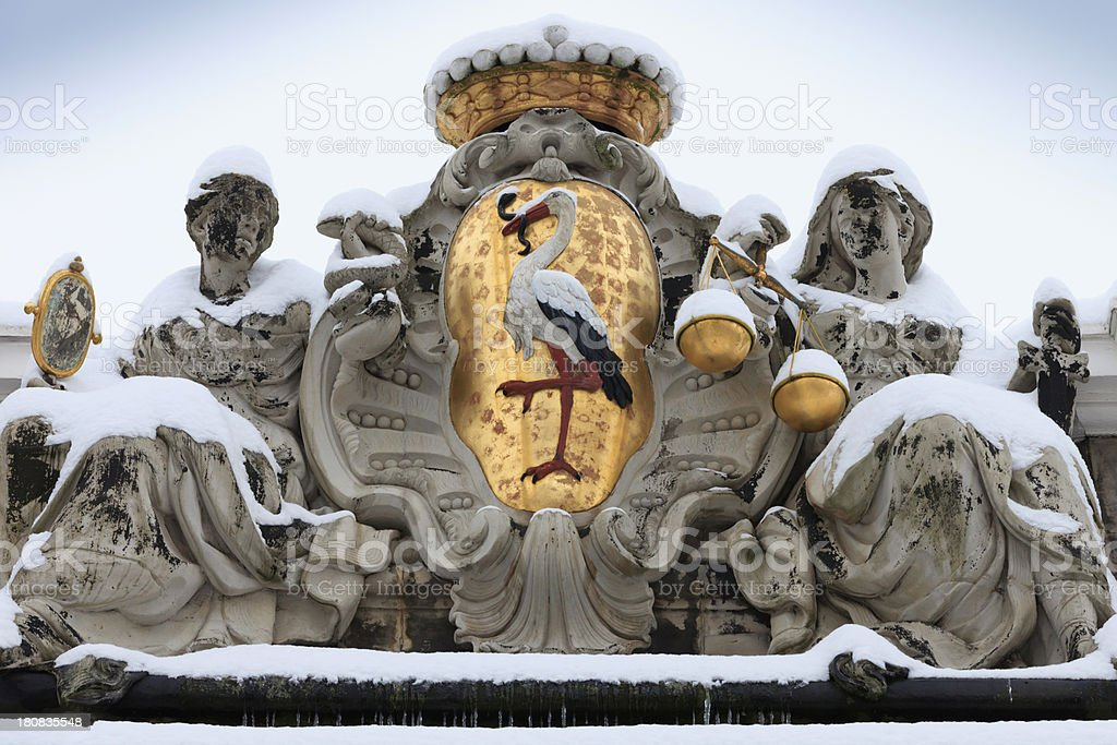 The Hague's original coat of arms royalty-free stock photo