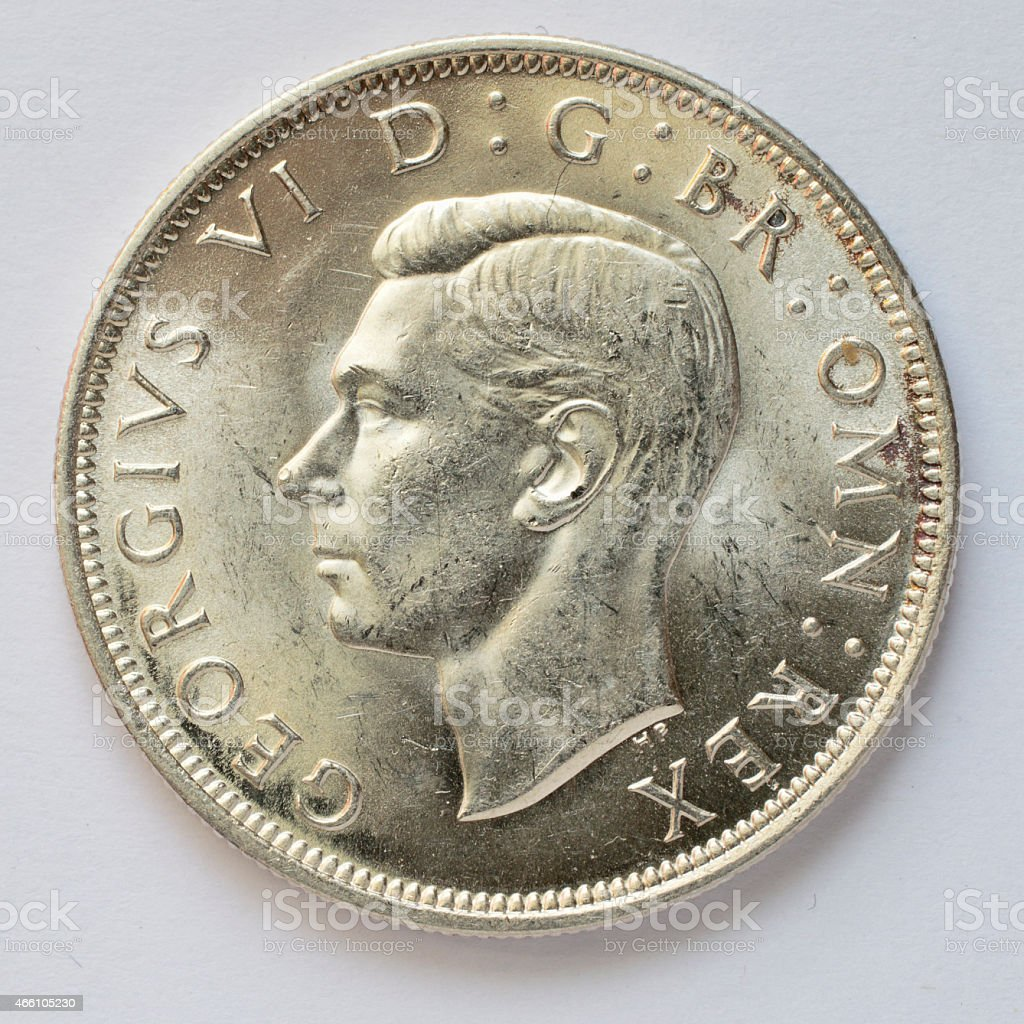 Half crown silver coin George VI 1946 obverse stock photo