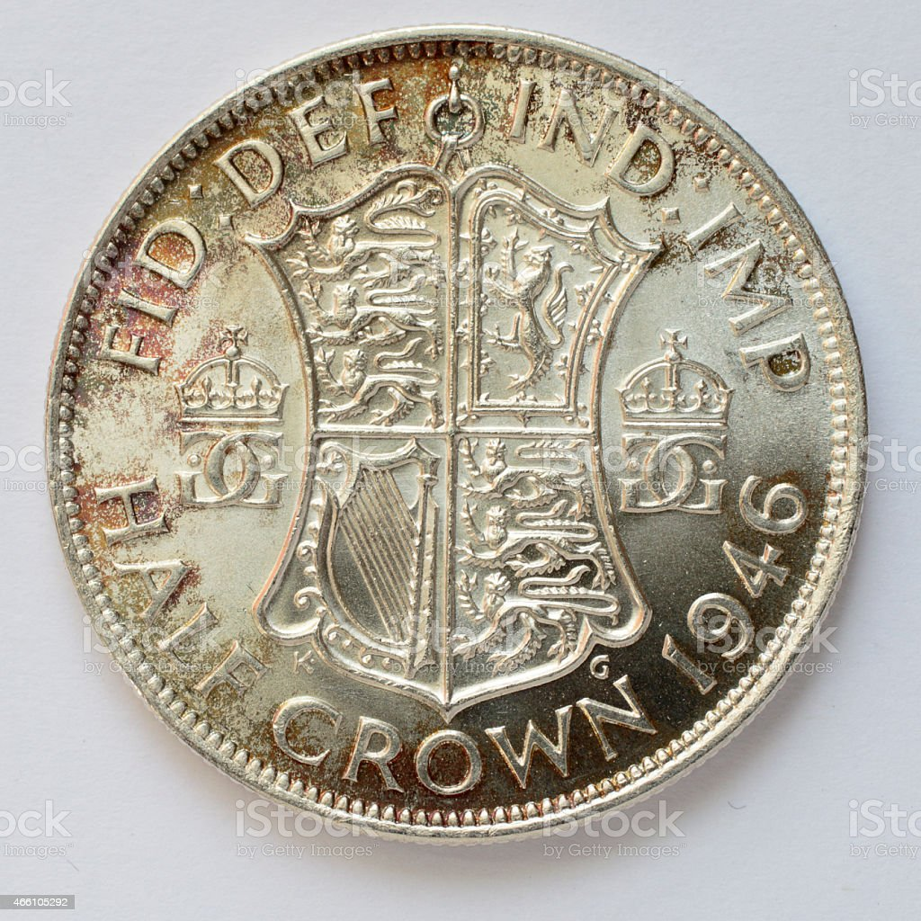 Half crown silver coin George VI 1946 reverse stock photo