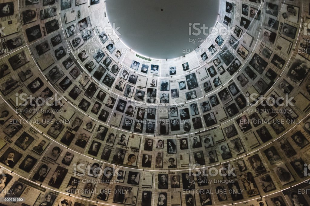 The Hall of Names in the Yad Vashem Holocaust Memorial Site in Jerusalem, Israel, remembering some of the 6 million Jews murdered during World War II Jerusalem, Israel - February 27th, 2017: The Hall of Names in the Yad Vashem Holocaust Memorial Site in Jerusalem, Israel, remembering some of the 6 million Jews murdered during World War II Adolf Hitler Stock Photo