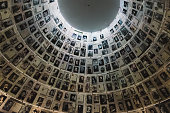 The Hall of Names in the Yad Vashem Holocaust Memorial Site in Jerusalem, Israel, remembering some of the 6 million Jews murdered during World War II