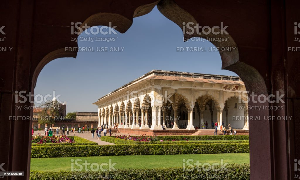 Agra Inida - 5 Mar 2017. Kamu Hall seyirci, Agra Kalesi, UNESCO Dünya Mirası AGRA. Hindistan royalty-free stock photo