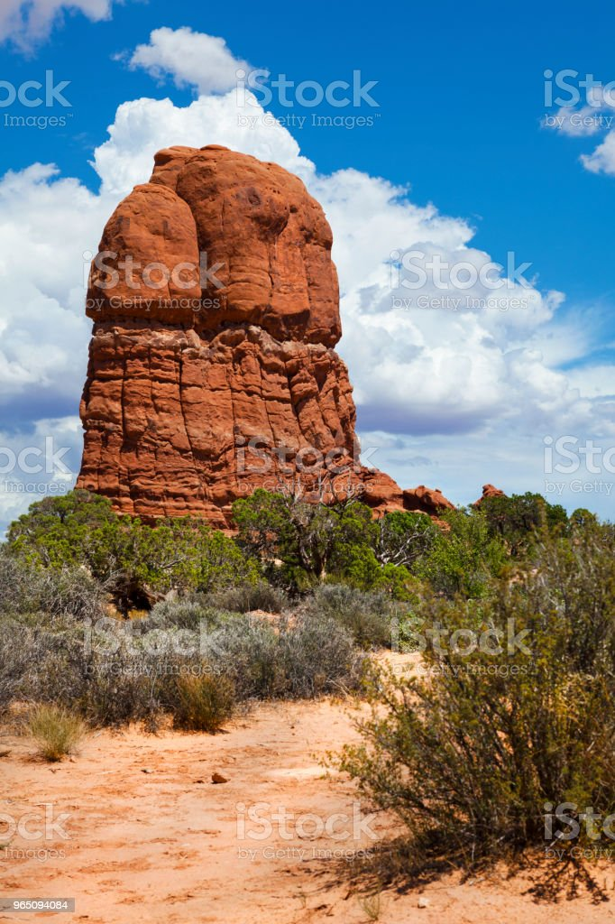 The Hand in Arches National Park, Utah, USA zbiór zdjęć royalty-free