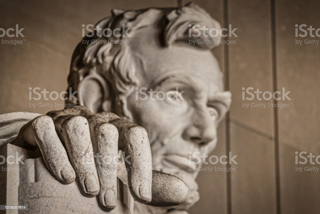 The Hand of Abe stock photo
