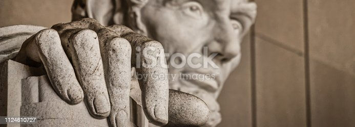 istock The Hand of Abe (Banner) 1124610727