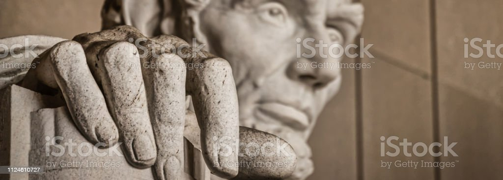 The Hand of Abe (Banner) stock photo