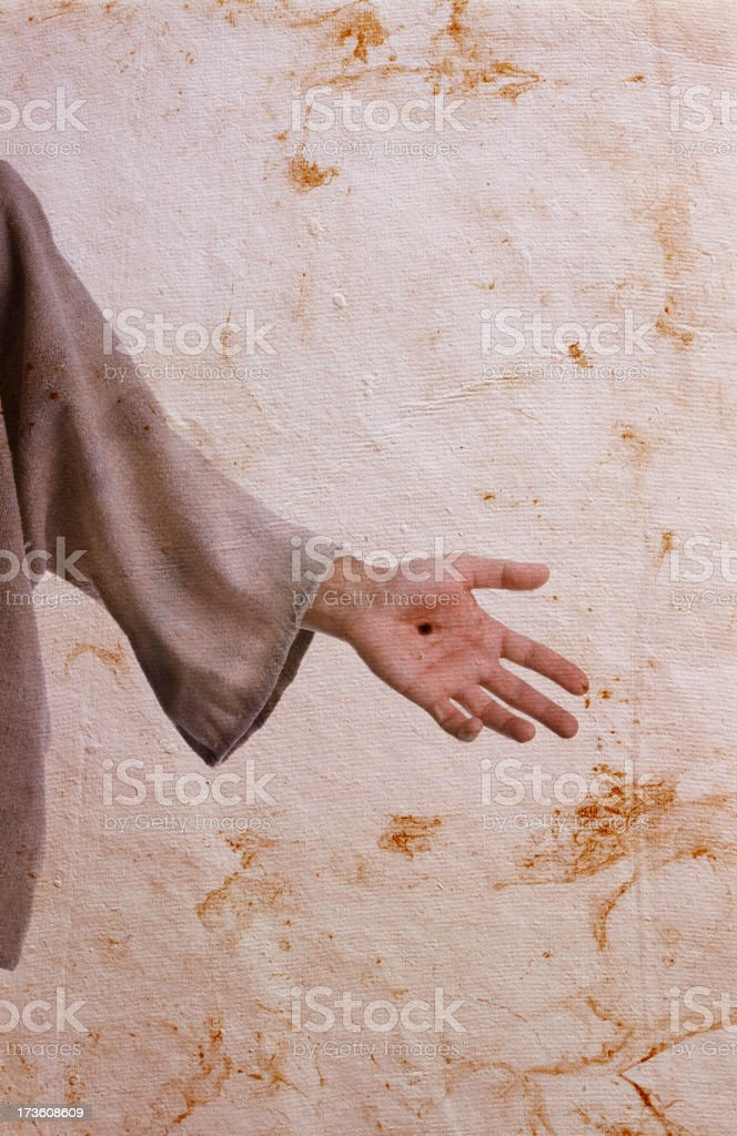 The Hand of Christ stock photo