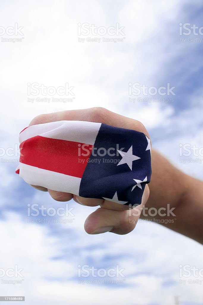 the hand of libery royalty-free stock photo
