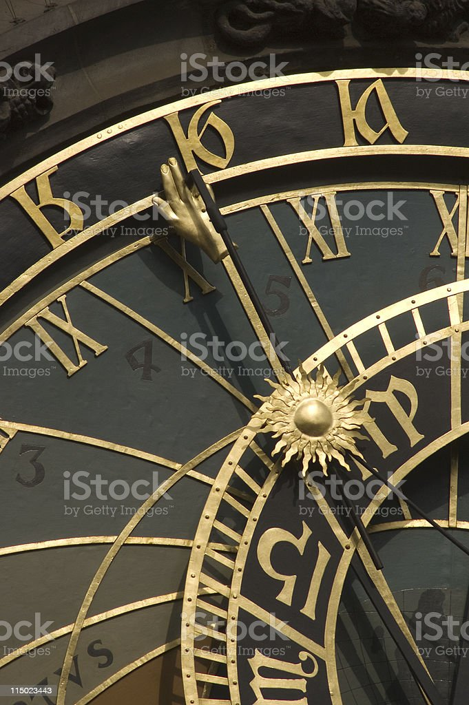 The Hand of Time royalty-free stock photo