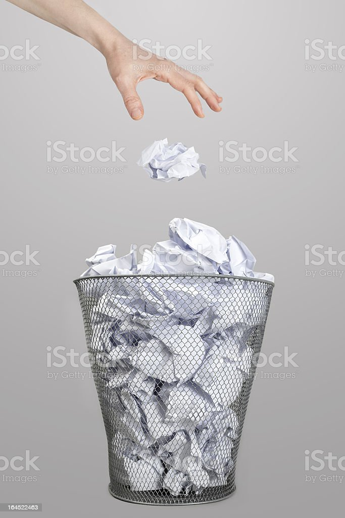 The hand of woman and garbage royalty-free stock photo
