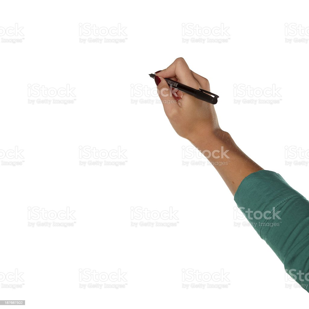the hand that writes royalty-free stock photo