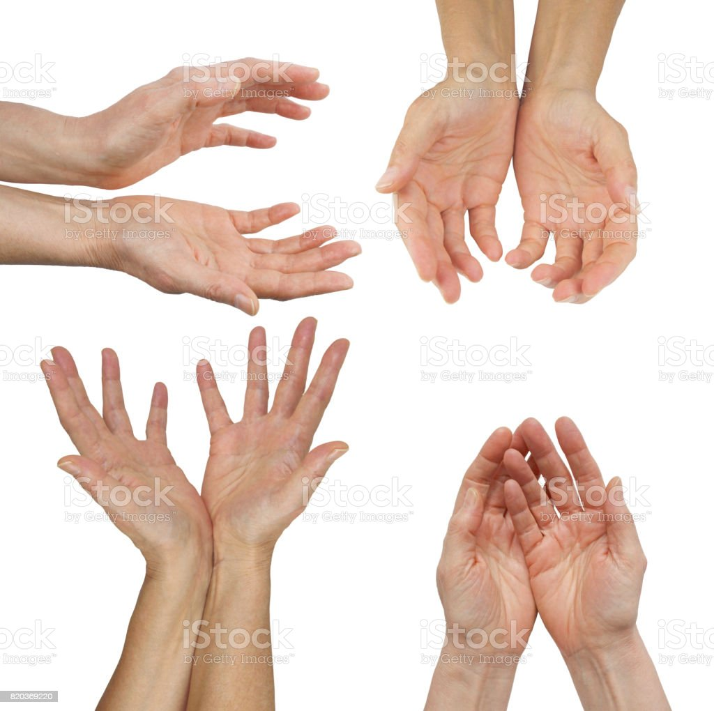The Hands of an Energy Healing Practitioner stock photo