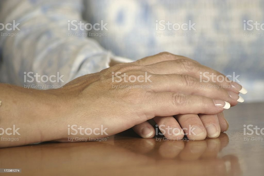 The hands of help and friendship stock photo