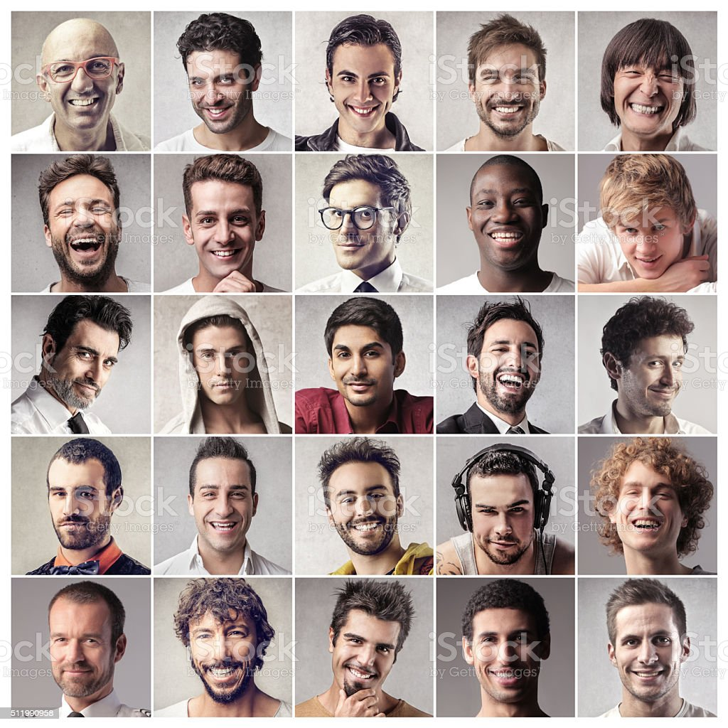 The Handsome People stock photo