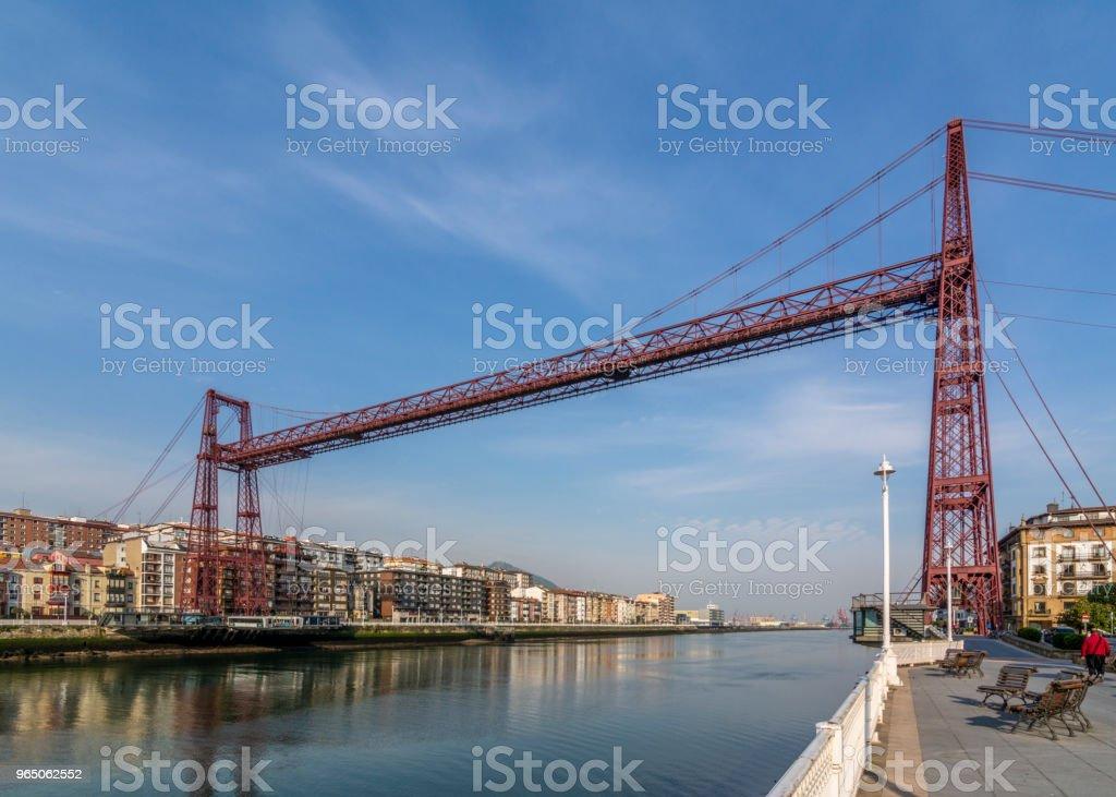 The Hanging Bridge of Vizcaya zbiór zdjęć royalty-free